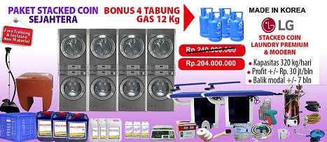 paket-Laundry-Koin-LG-4-stack Harga mesin cuci koin | Mesin Laundry Koin | Stack Koin Laundry