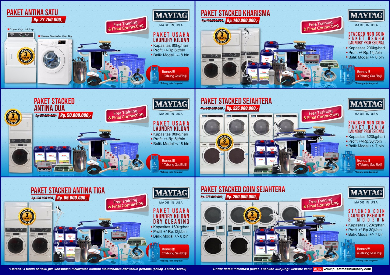 paket-laundry-kiloan-dan-koin HARGA MESIN LAUNDRY KILOAN PAKET